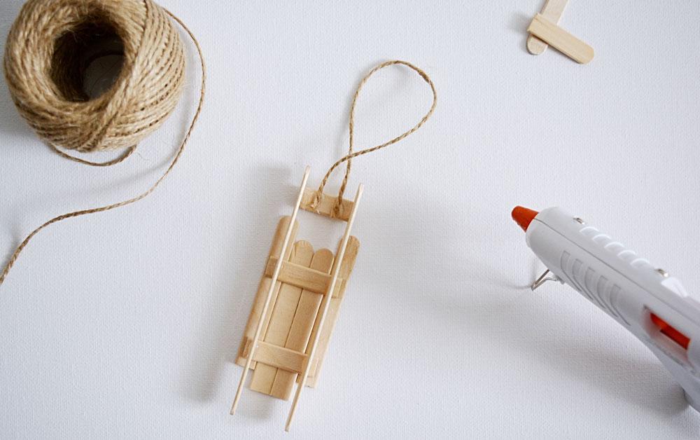 Handmade drevené sánky