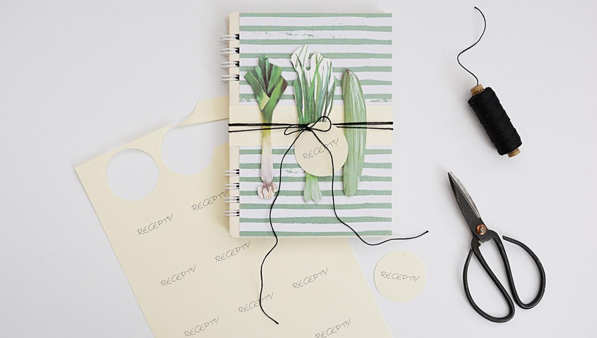 Diy zápisník na recepty