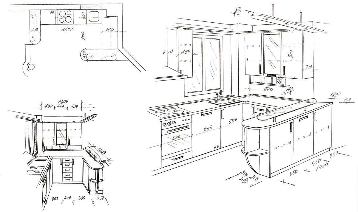 planovanie malej kuchyne