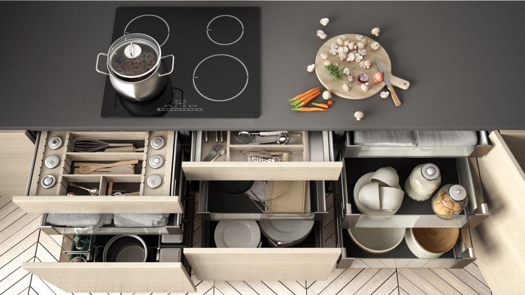 Poriadok v kuchyni: Praktické úložné systémy