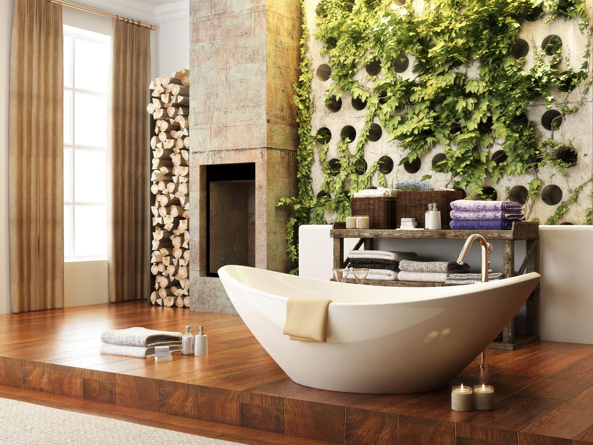 zelená stena v kúpelni