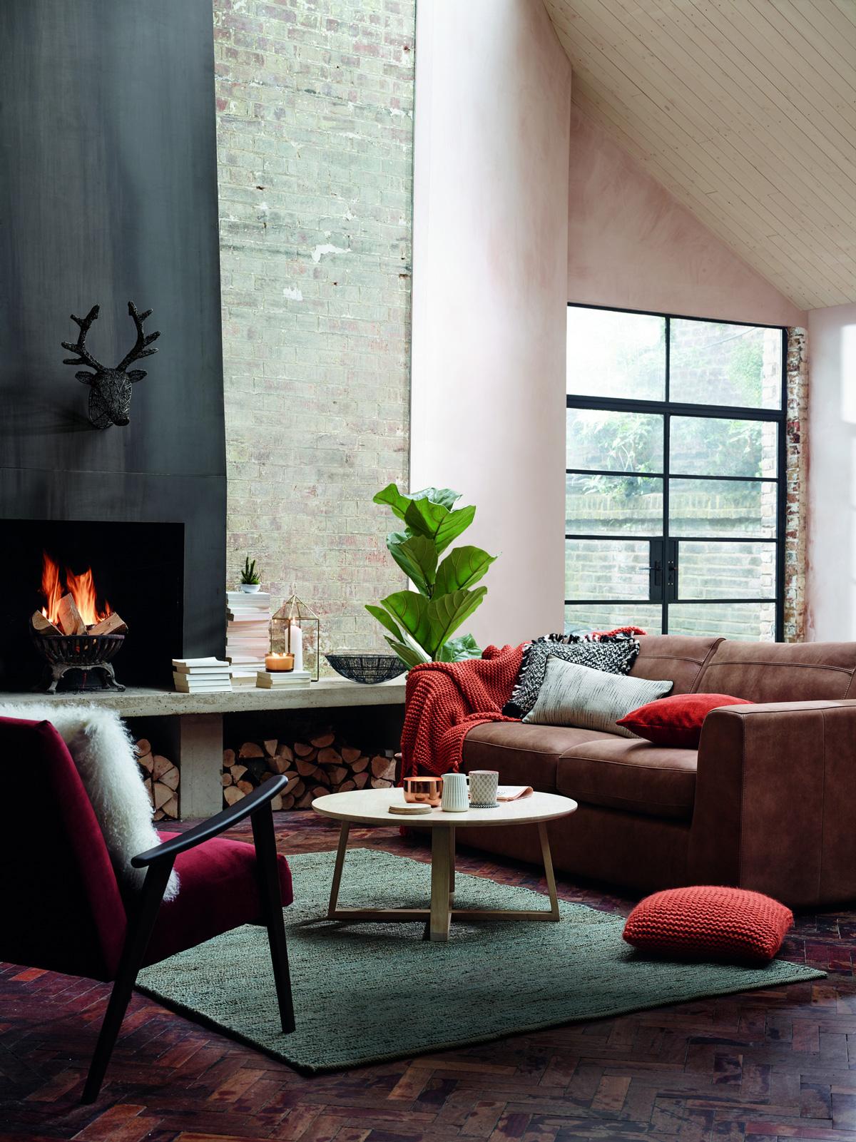 zemité farby v obývačke