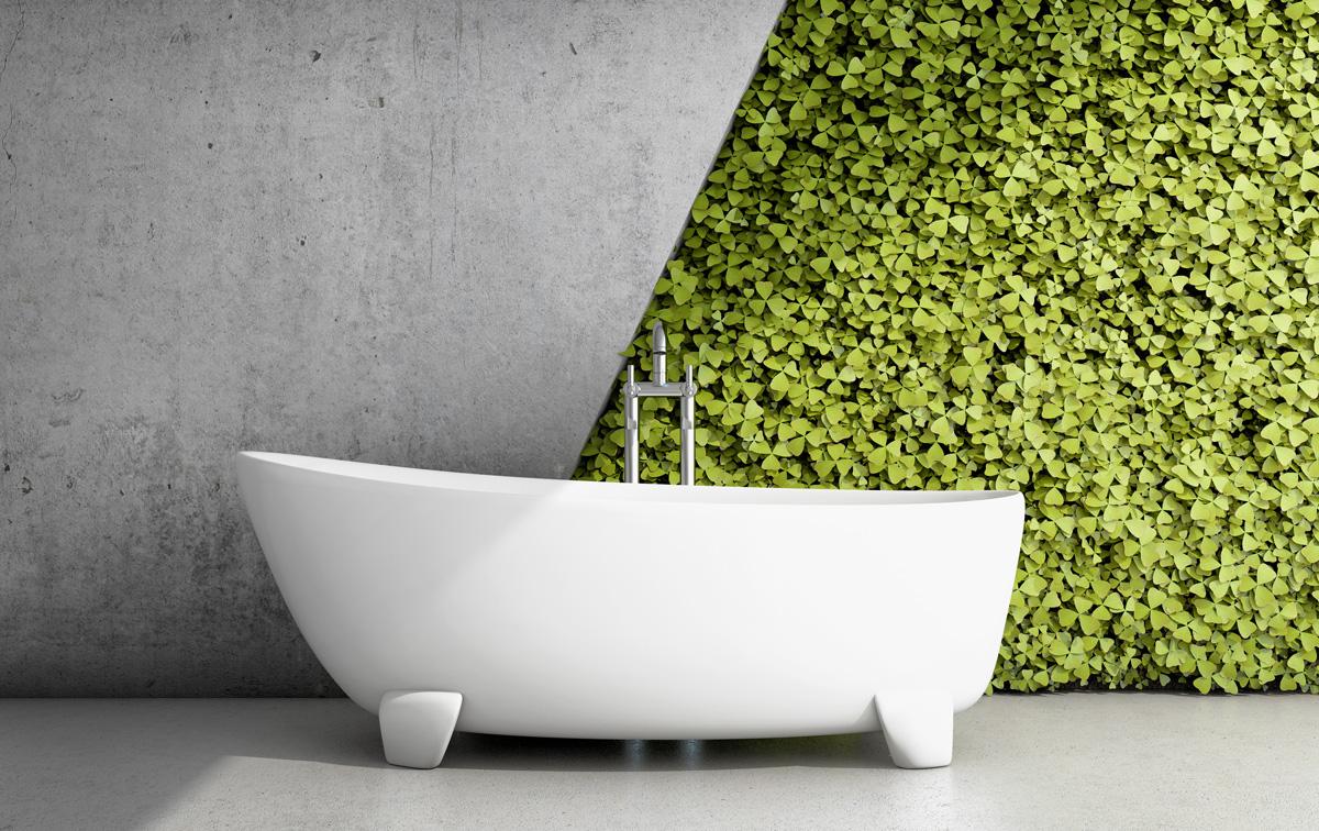 vertikálna záhrada v kúpeľni