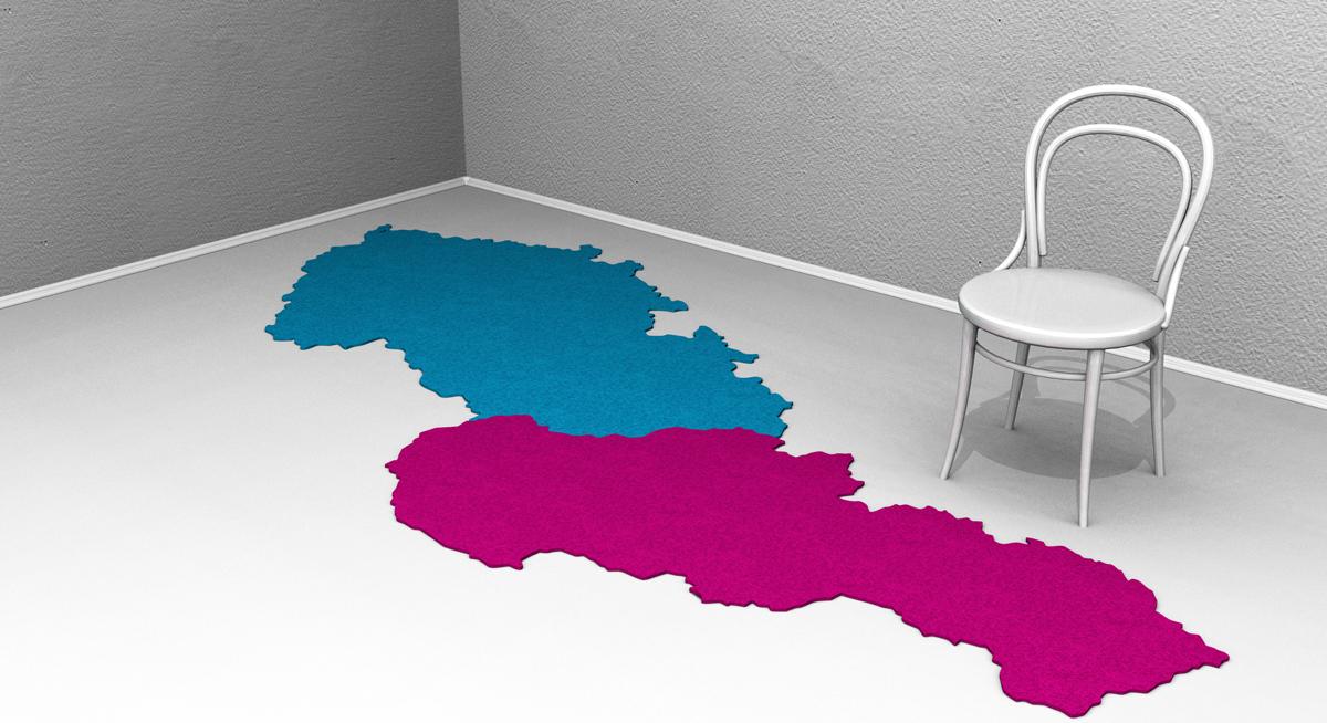 Plstený koberec