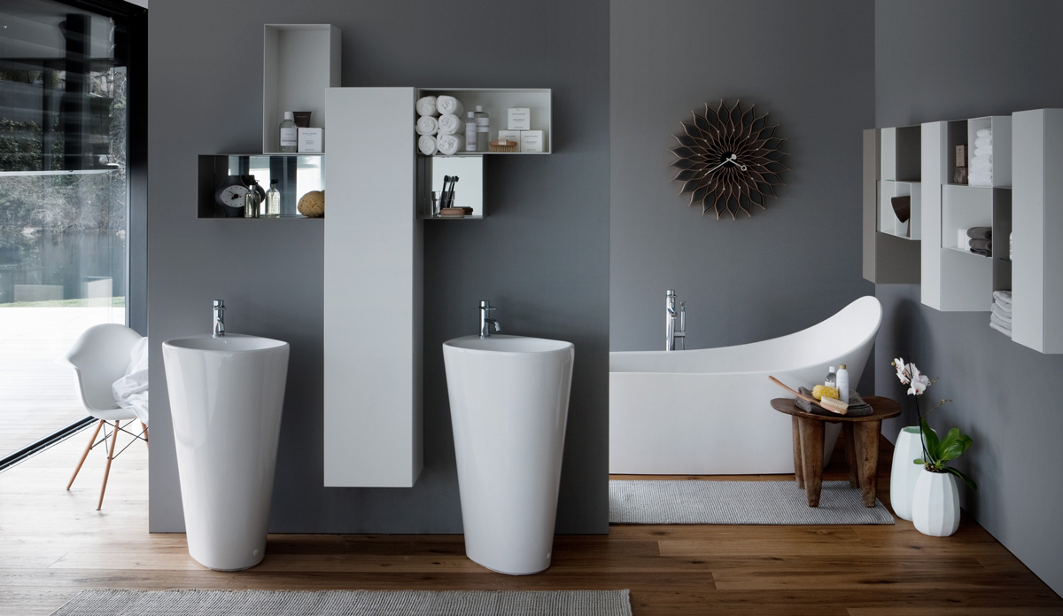 Solitérne keramické umývadlo
