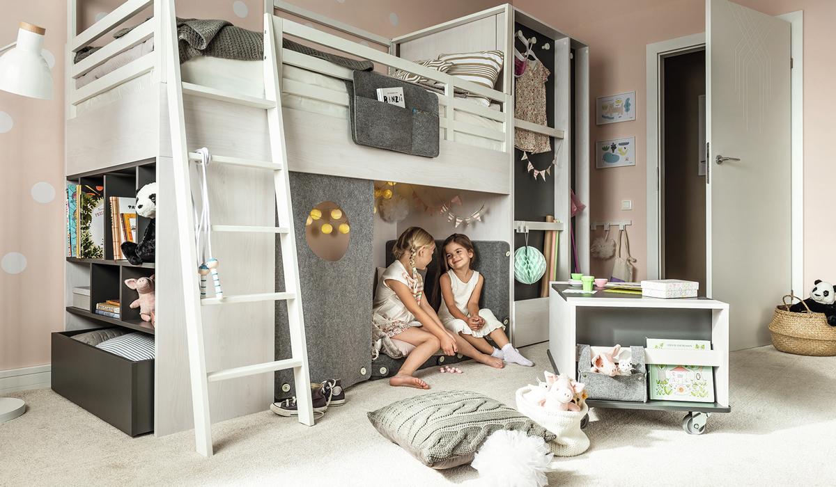Detské izby s poschodovou posteľou