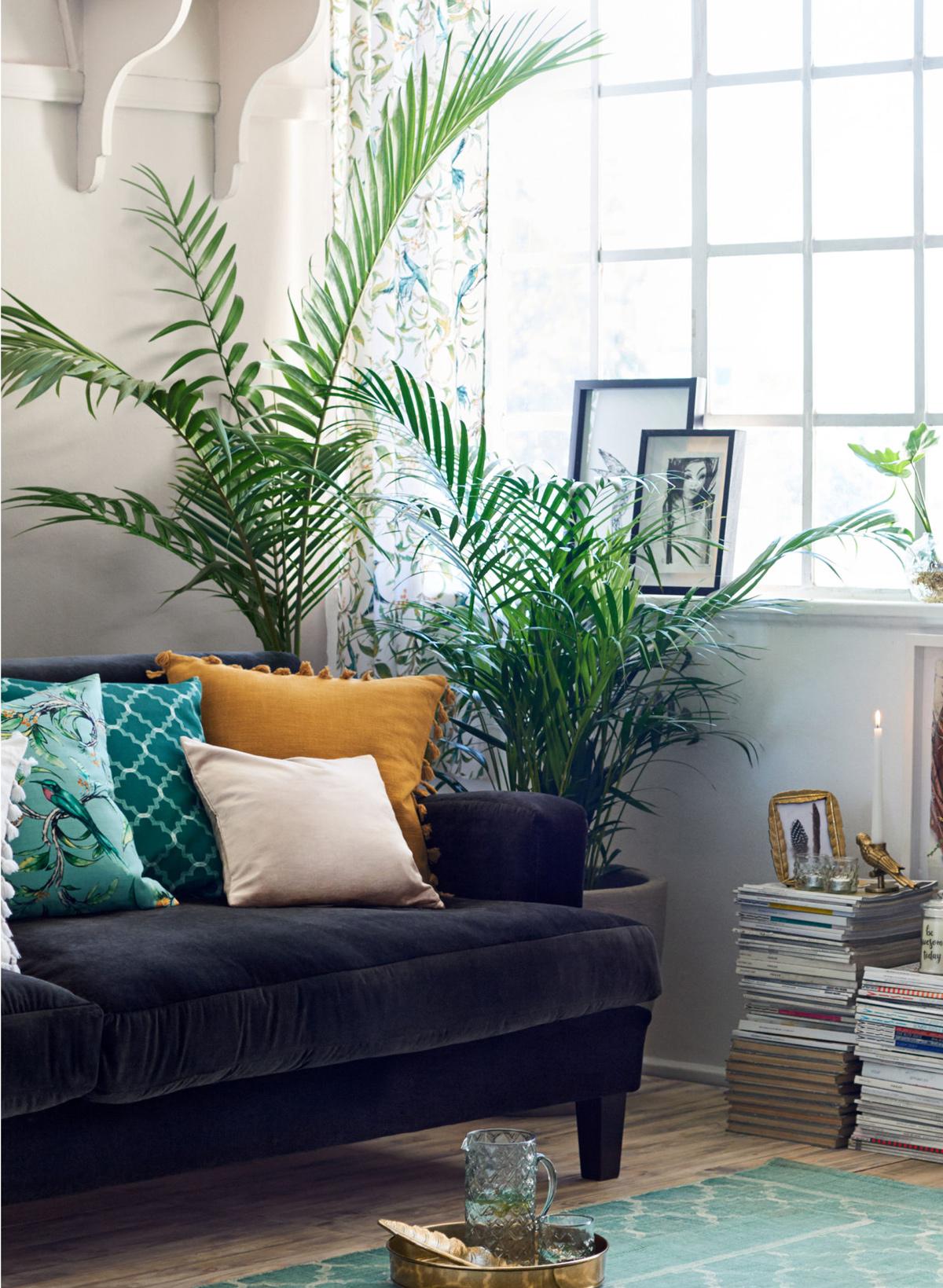 Zelená v interiéri