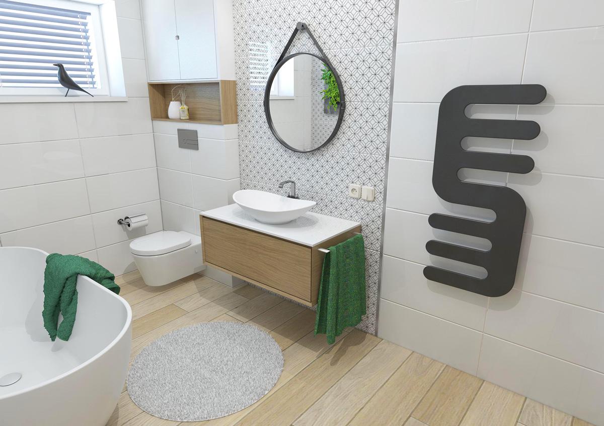 Sprchovací kút v priestore