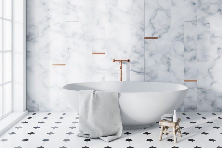 Noblesný glamour v kúpeľni