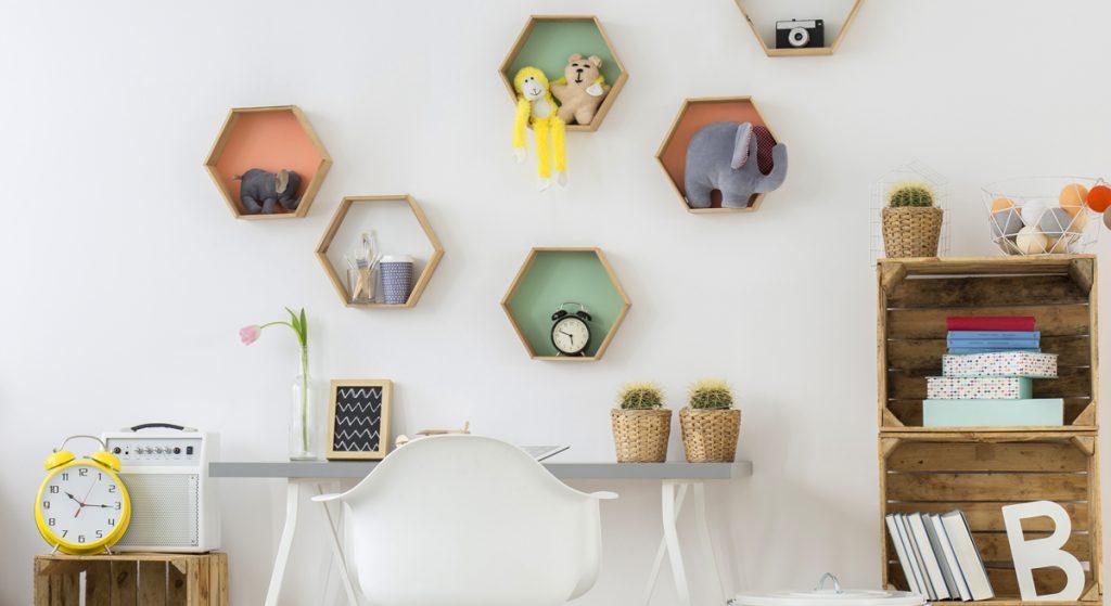 geometrické tvary v interiéri