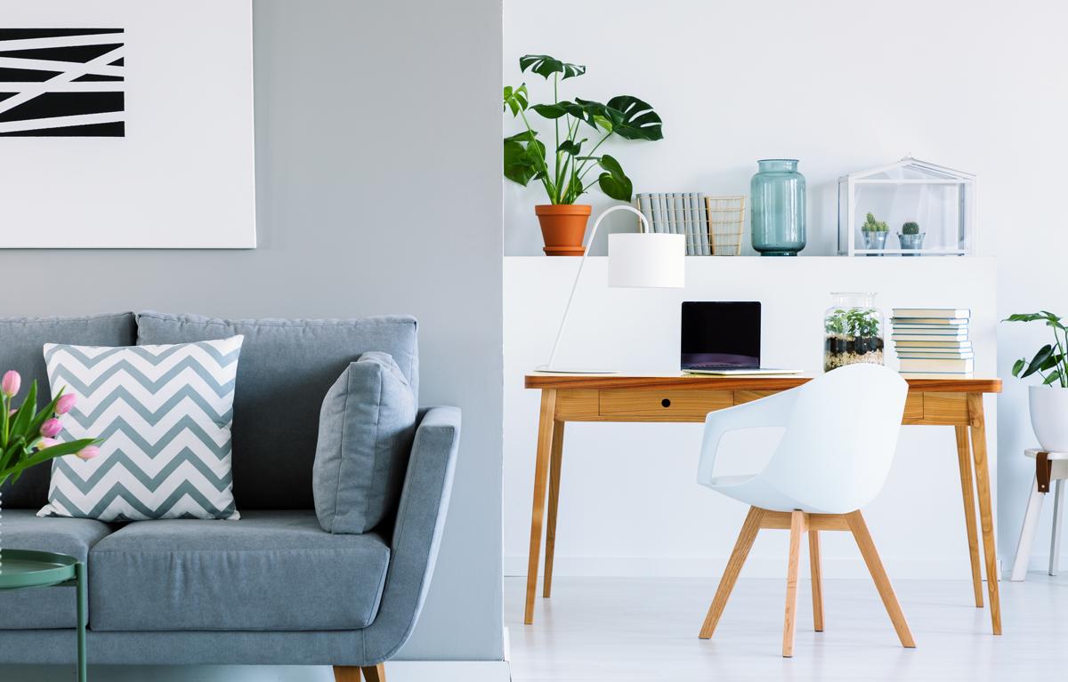 """479bd3abde07b Aj práca z domu vyžaduje vhodný priestor na prácu. Čo však v prípade, ak sa  v byte voľný priestor na pracovňu nenachádza a treba ju """"natlačiť"""" do  obývačky?"""