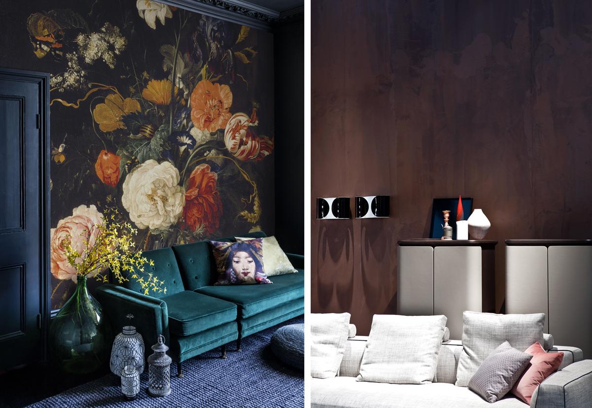 steny v obývačke
