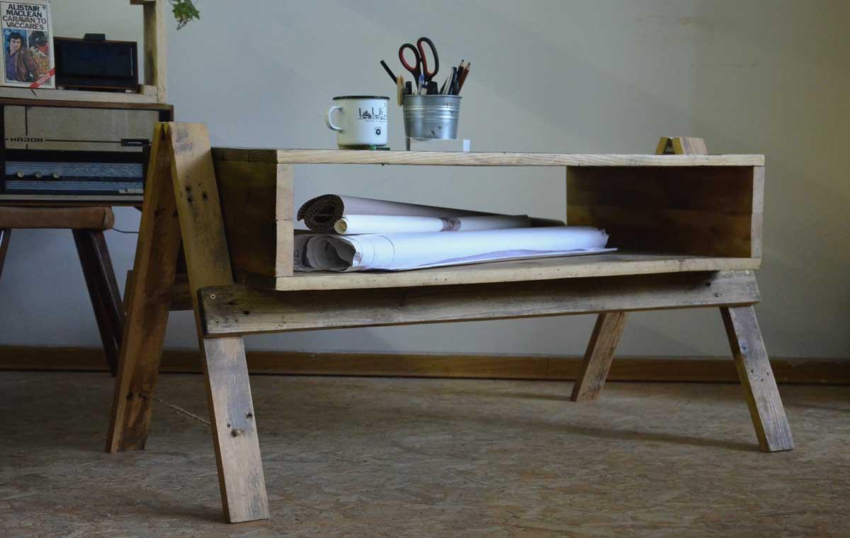 recyklovaný nábytok
