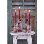 Adventné sviečky v sklenených vázach