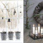 Adventné sviečky v kvetináči a kovovej miske