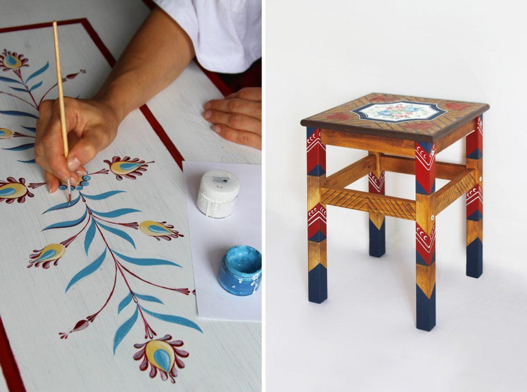 Pôvodné motívy a vzory maľujú na starý nábytok a interiérové doplnky