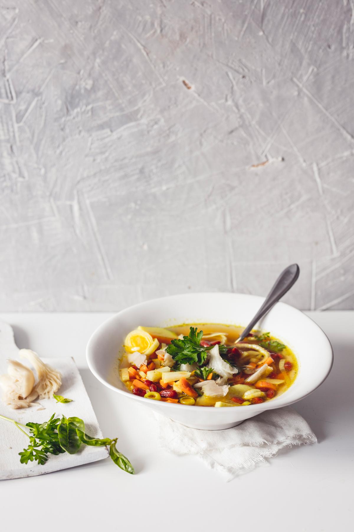 detoxikačná polievka, vegánska polievka