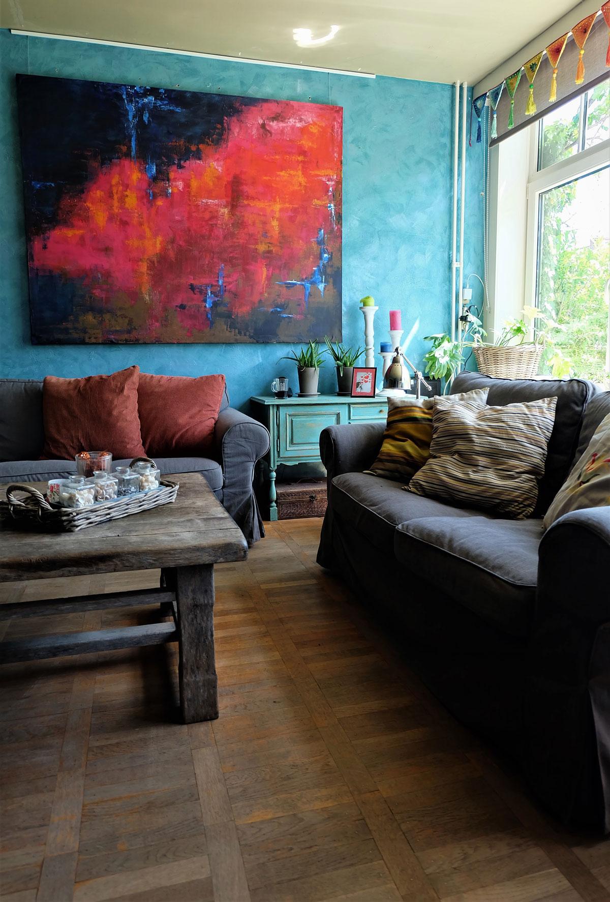 trendy v obývačke, bohémsky štýl