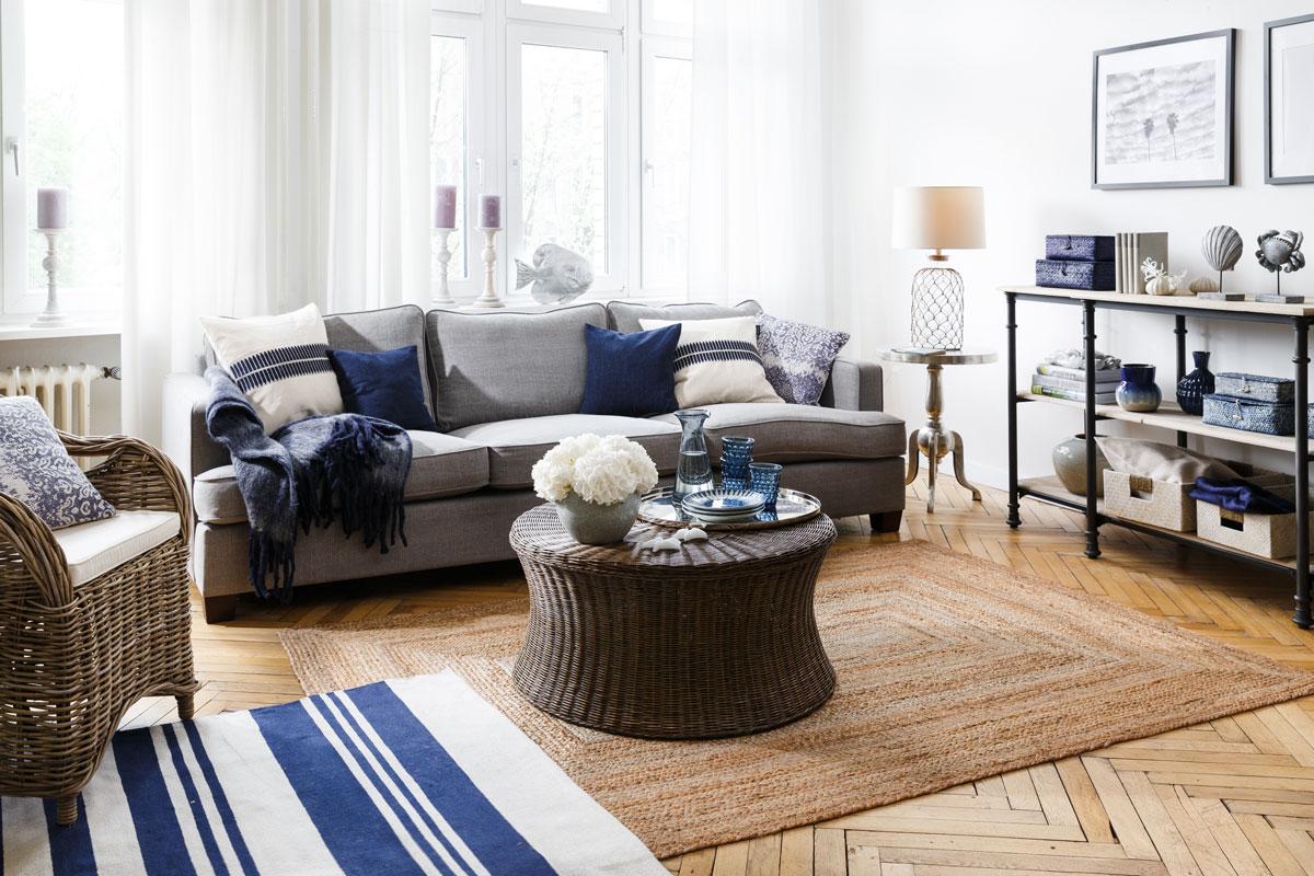 trendy v obývačke, natur štýl
