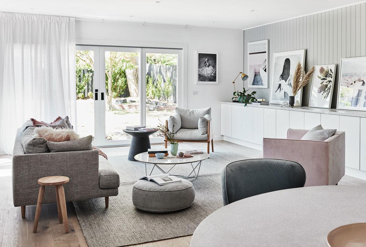 trendy v obývačke, severský štýl