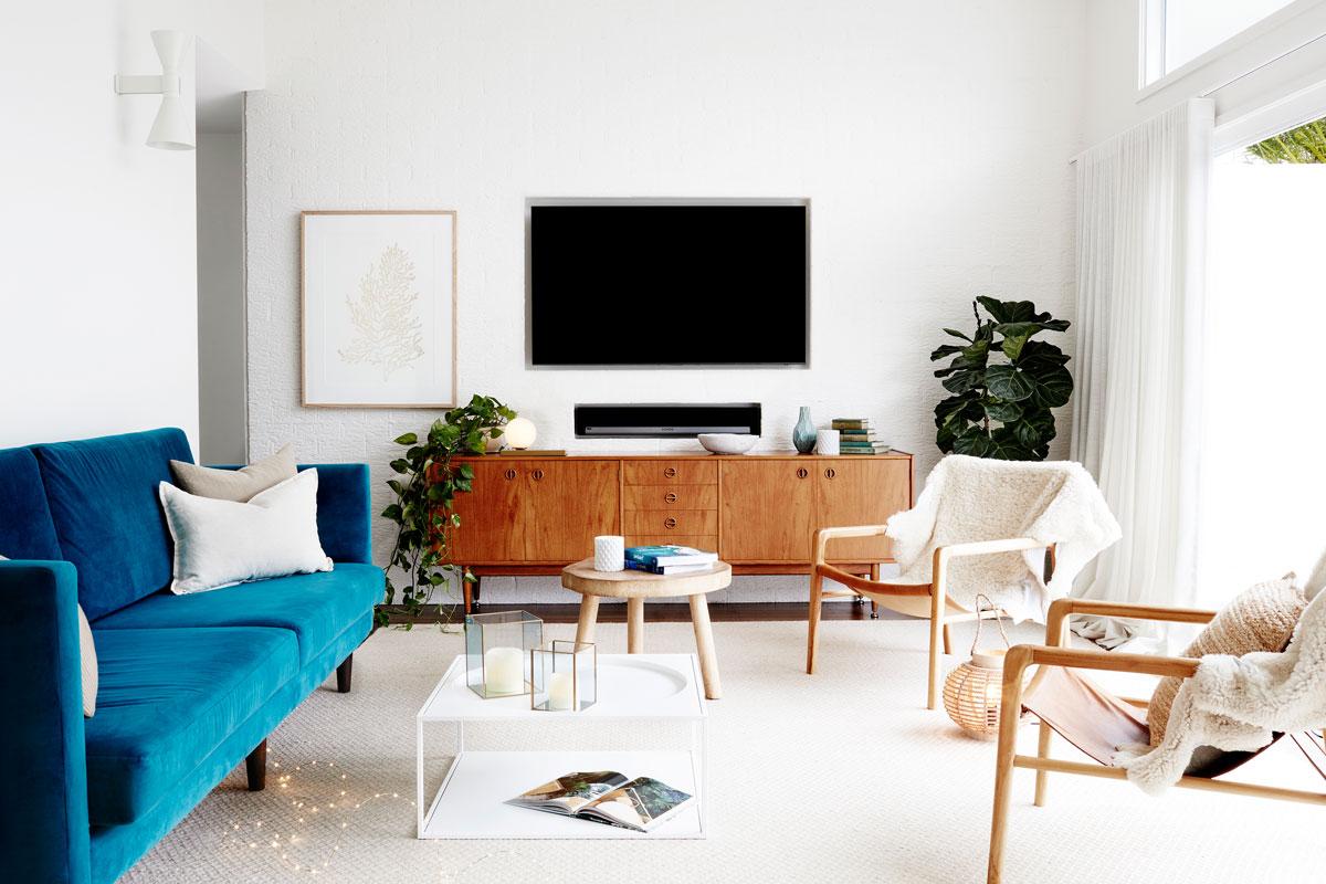 trendy v obývačke, retro štýl