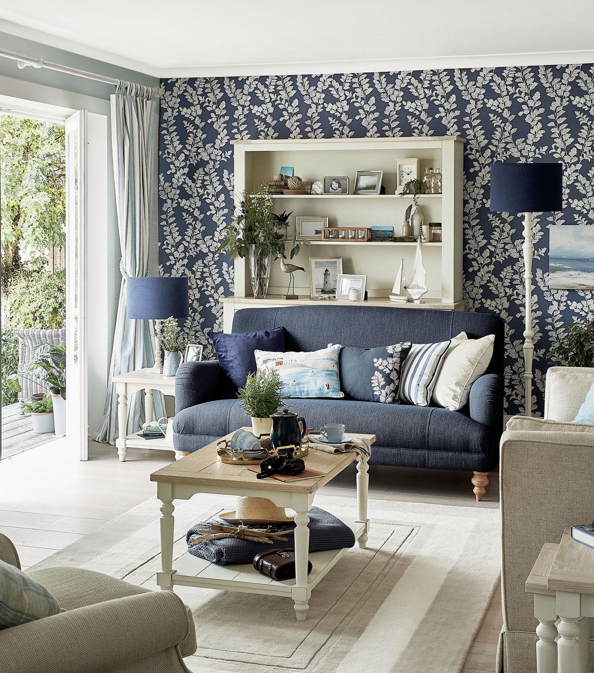trendy v obývačke, romantický štýl