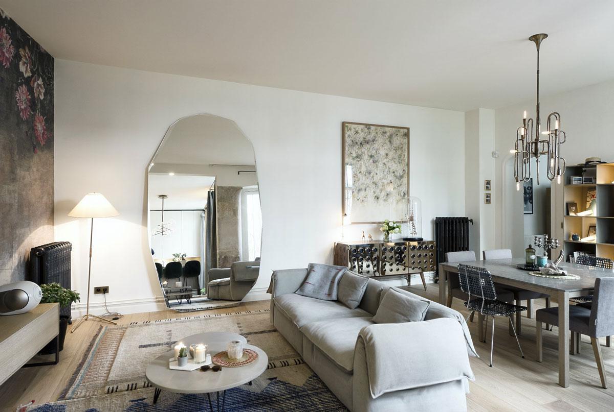 trendy v obývačke, francúzsky štýl