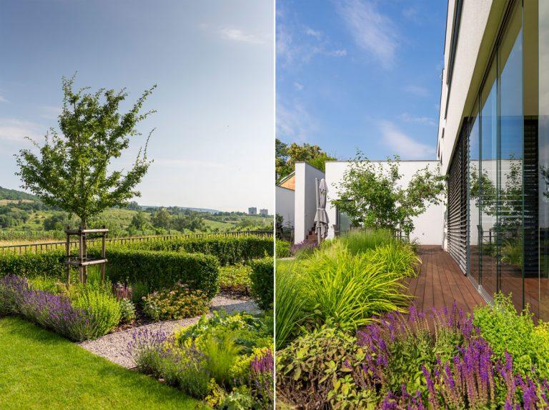 Záhrada, ktorá ladí s architektúrou novostavby