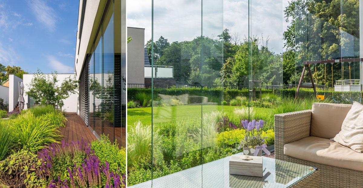 moderná záhrada, minimalizmus