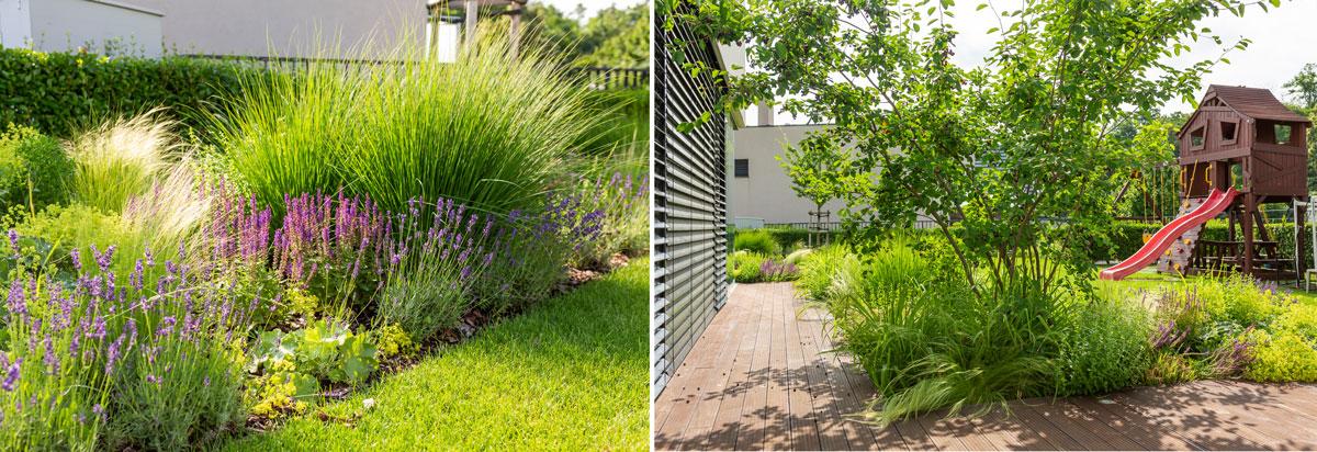 moderná záhrada, minimalizmus, detské ihrisko