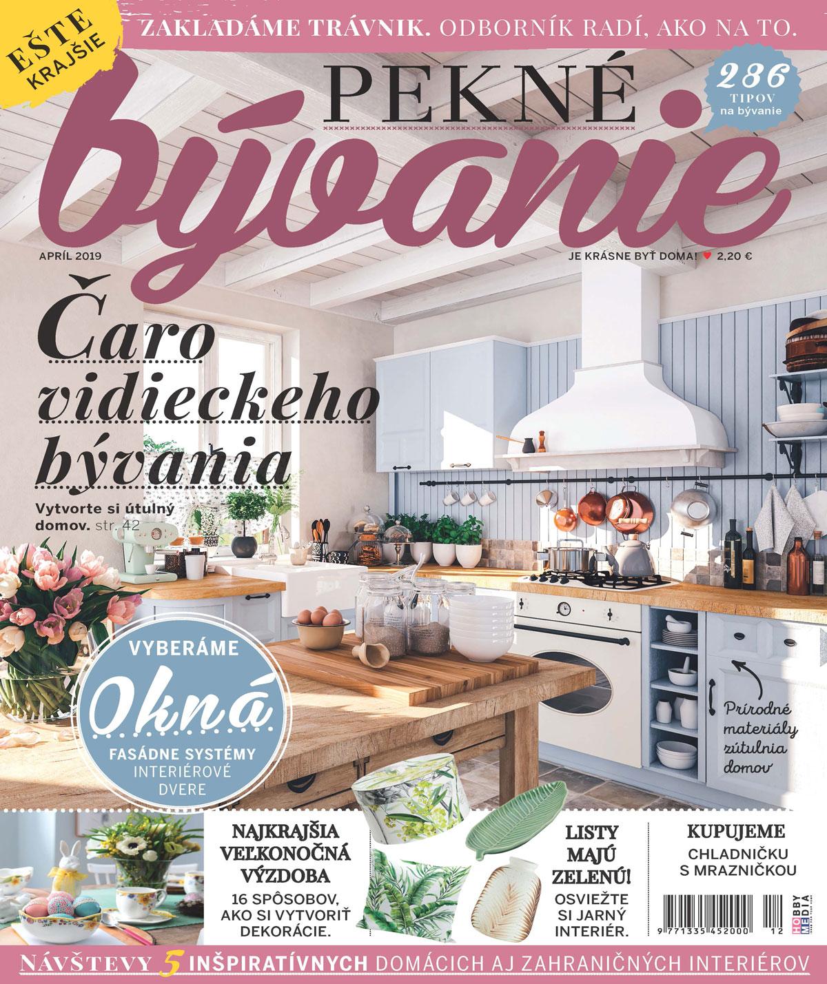 časopis Pekné bývanie