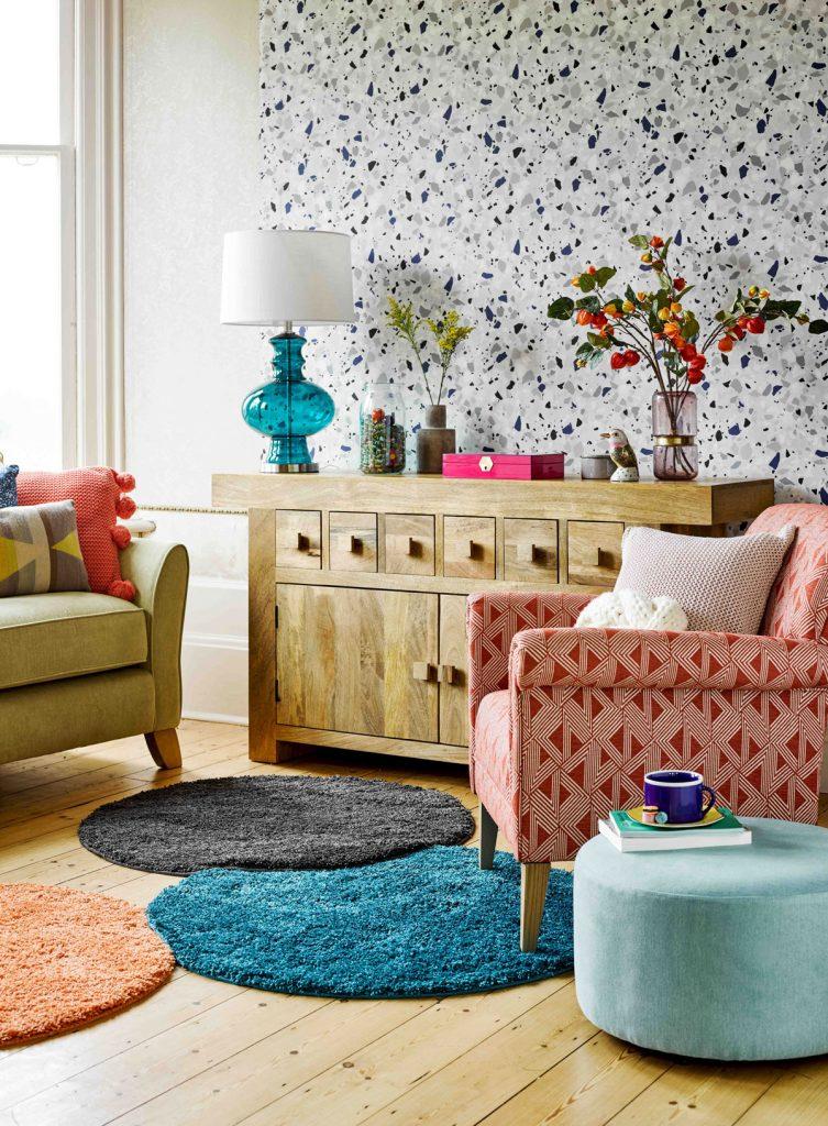 farebný interiér