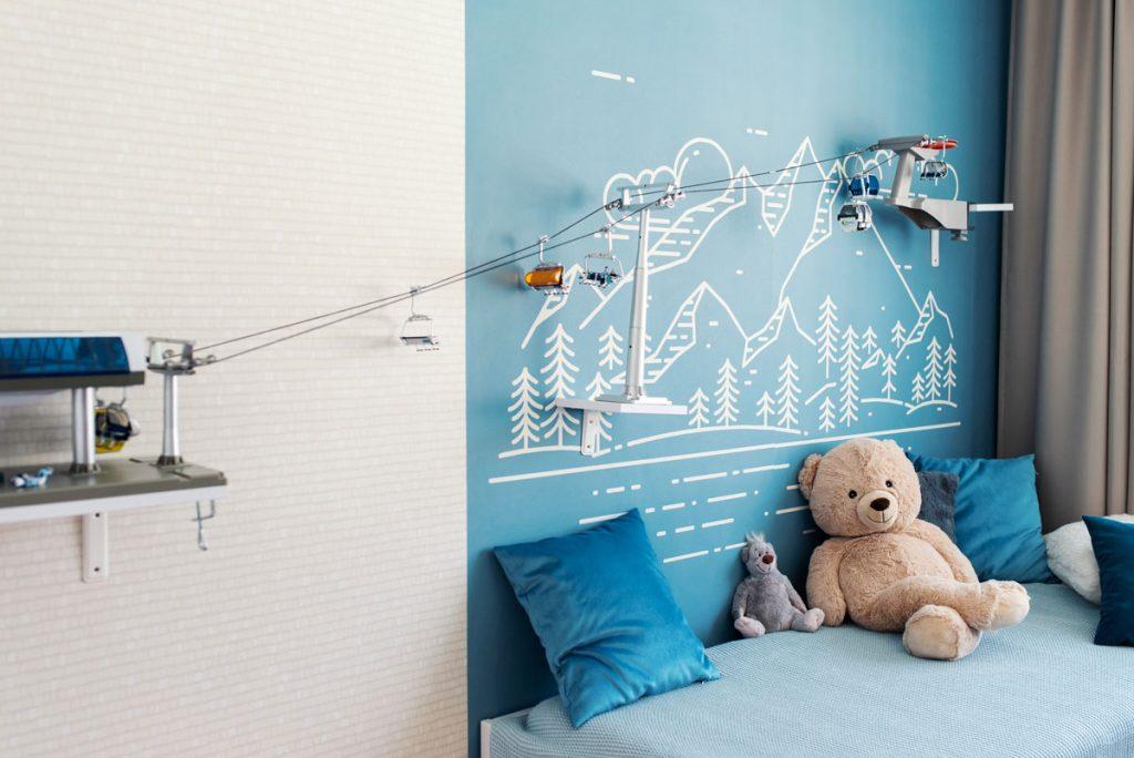 detská izba, lanovka