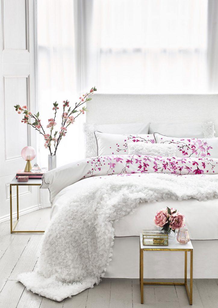 kvetinová textilná potlač