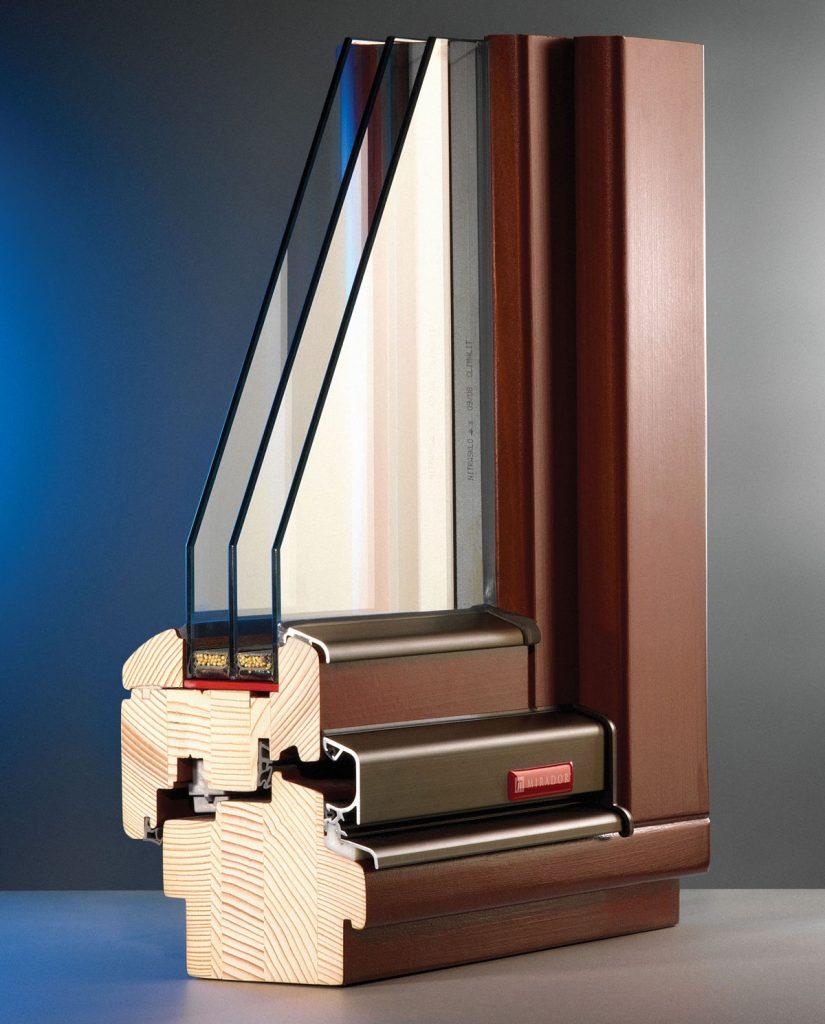 profil dreveného okna