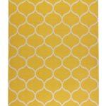 horčicovožltý koberec