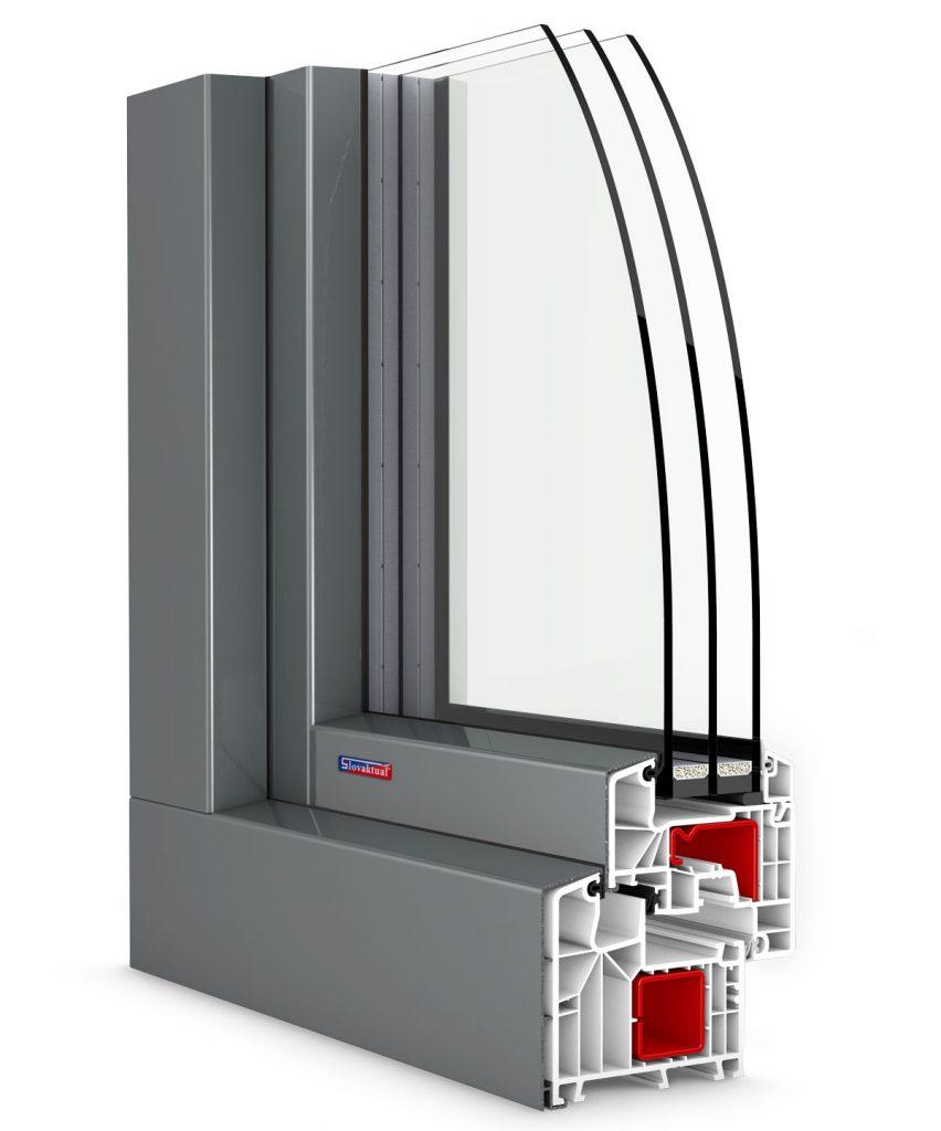 hlinikový profil okna