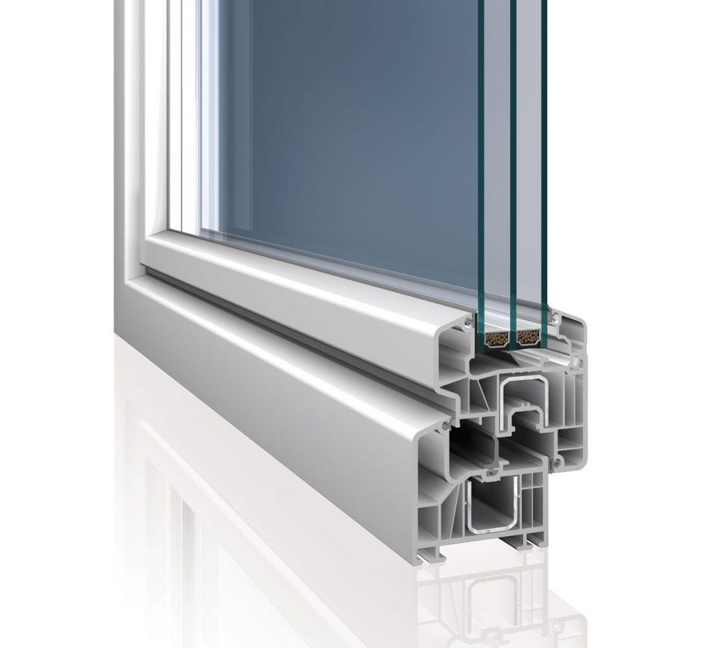 plastový profil okna