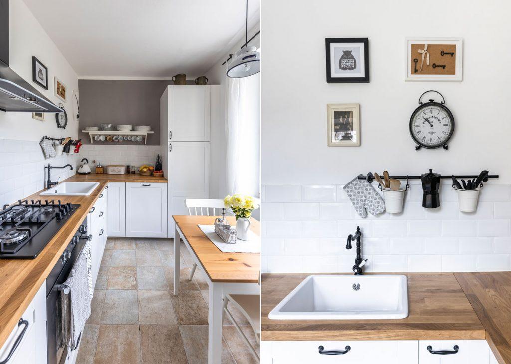 kuchyňa v škandinávskom štýle, kuchynský drez v škandinávskom štýle