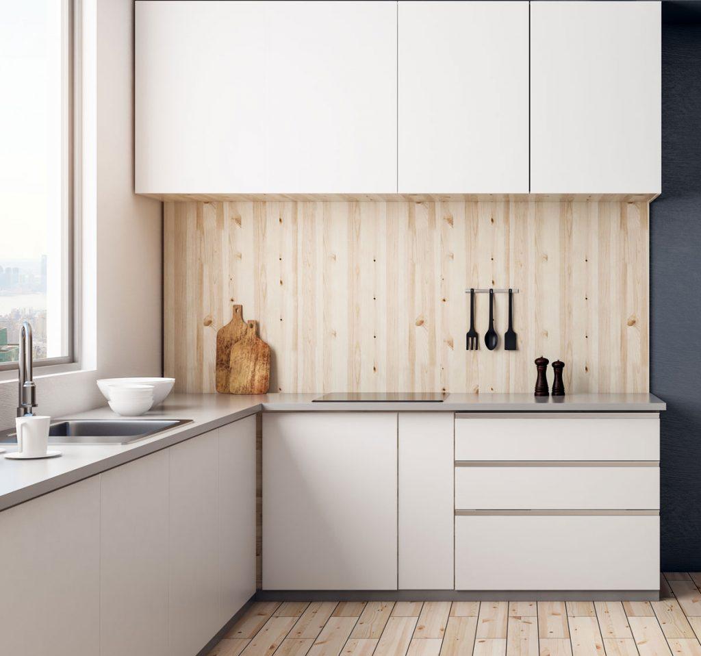 drevená kuchynská zástena