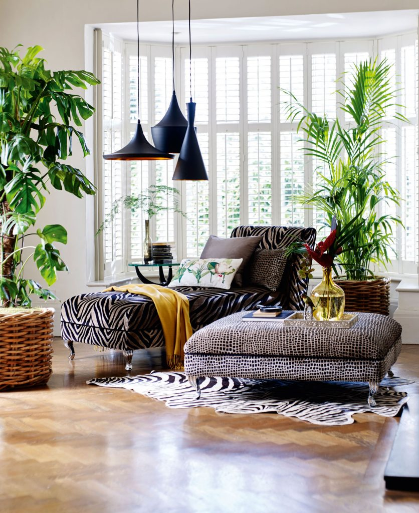zvieracie vzory na čalúnení nábytku, koberci a textíliách