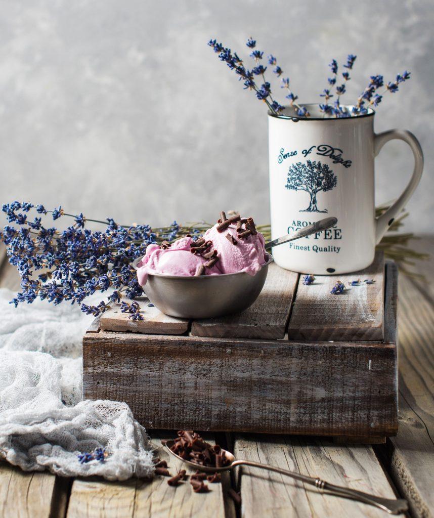 levanduľová zmrzlina