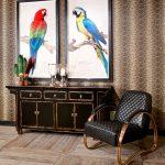 obrazy exotických vtákov v interiéri