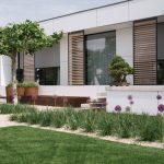 rodinný dom s minimalistickou záhradou