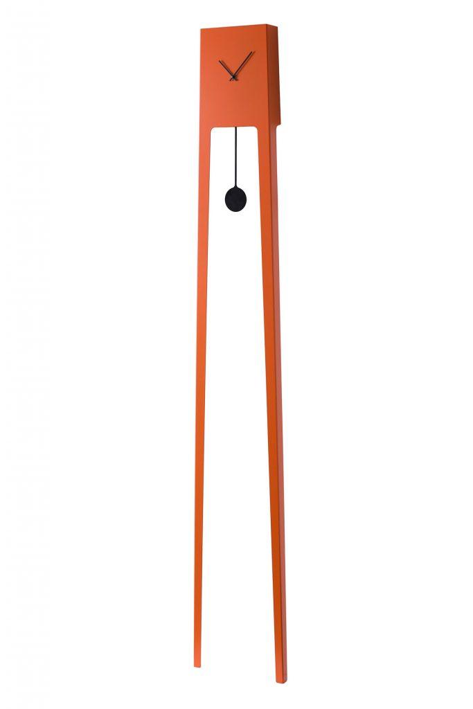 stojacie oranžové hodiny