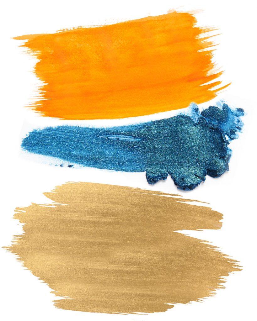 kombinácia farieb s oranžovou