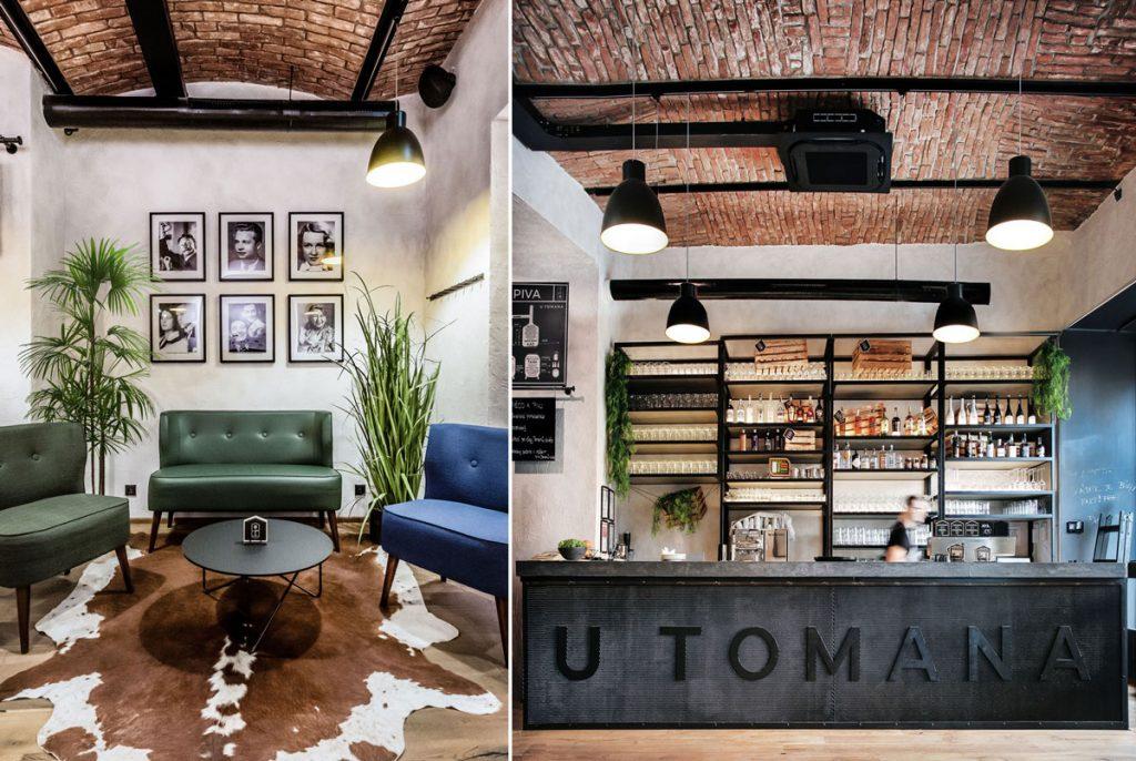interiéri industriálnej reštaurácie U Tomana