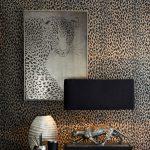 gepardí vzor na tapete