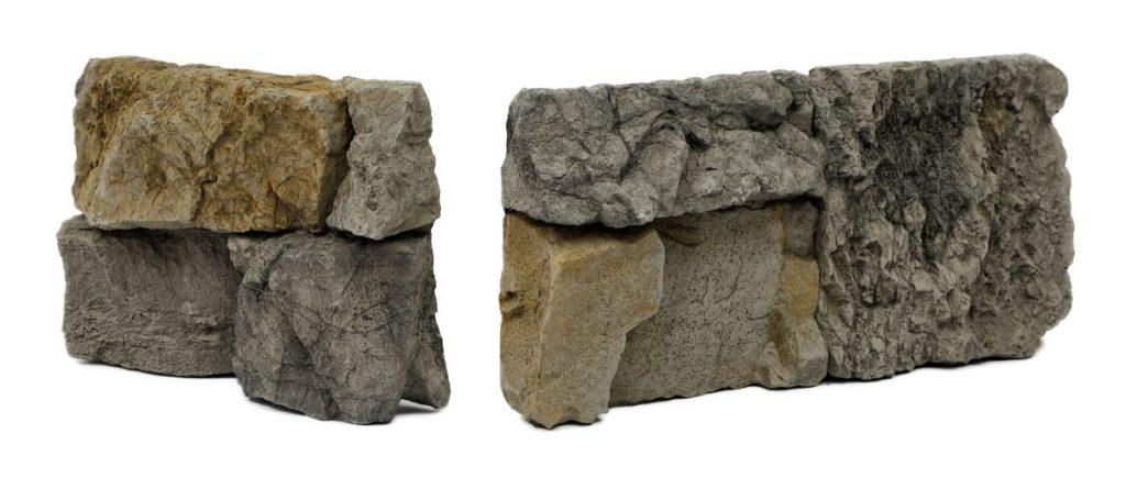rohy zrubového kamenného obkladu
