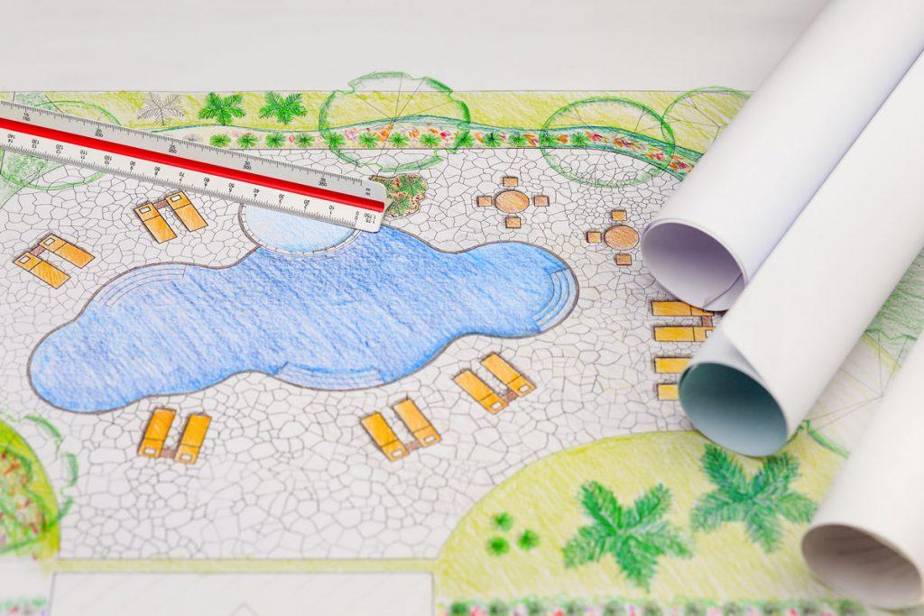 plánovanie bazéna - návrh